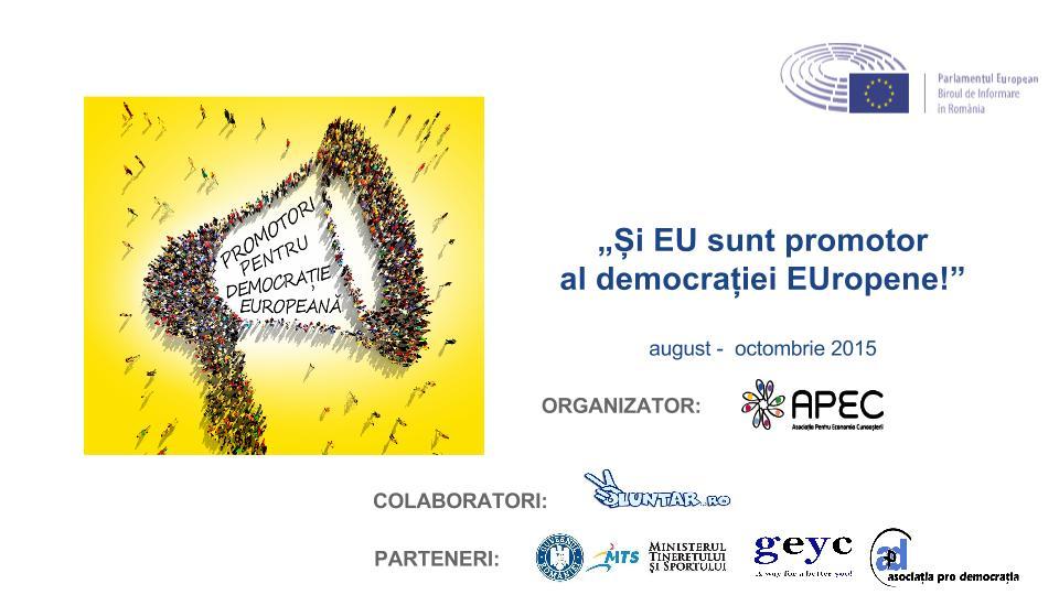 Proiect septembrie- Promotori pentru democratie europeana  (cover)